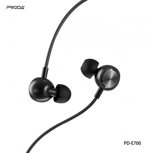 Remax© Proda eaphones stereo jack 3,5mm PD-7600 black