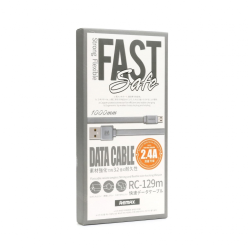 Cable USB REMAX Fast Pro Micro usb RC-129 grey