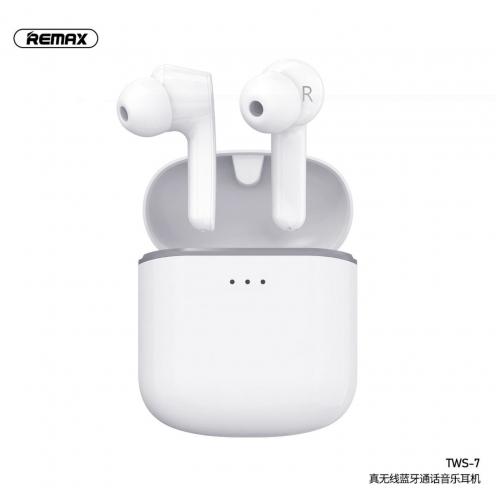 REMAX True Wireless Headset TWS-7 with power bank white