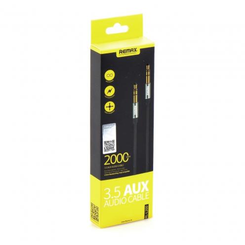 REMAX 3.5mm Aux Jack Cable L200 2m black