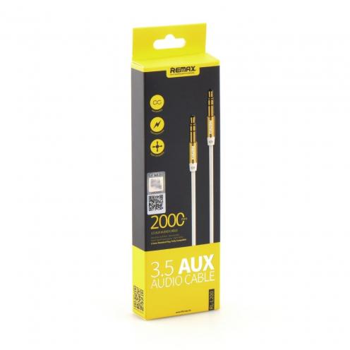 REMAX 3.5mm Aux Jack Cable L200 2m white