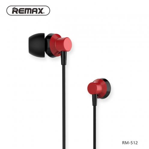 REMAX earphones RM-512 red