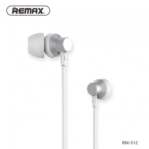 REMAX earphones RM-512 silver