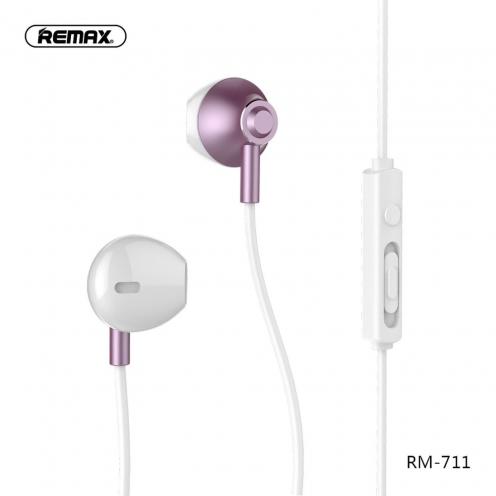 REMAX earphones RM-711 rose-gold