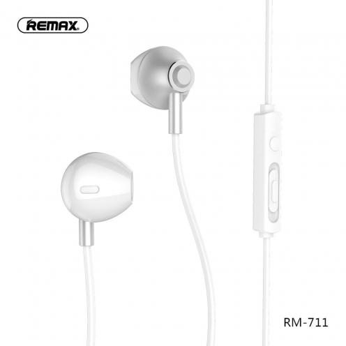 REMAX earphones RM-711 silver