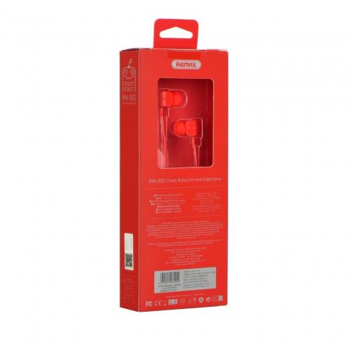 REMAX earphones RM-502 red