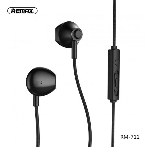 REMAX earphones RM-711 black