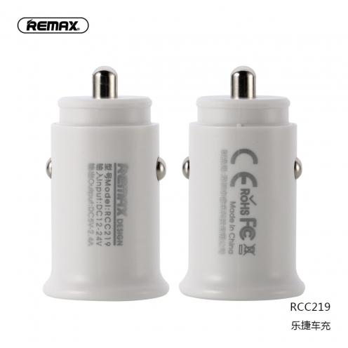 REMAX car charger ROKI 2xUSB 2,4A RCC219 white