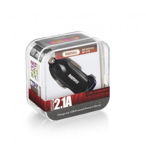 REMAX Car Charger Single USB 2.1A RCC101 black
