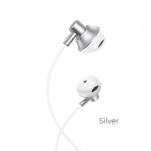 Hoco© earphones M75 Belle Universal jack 3,5mm silver