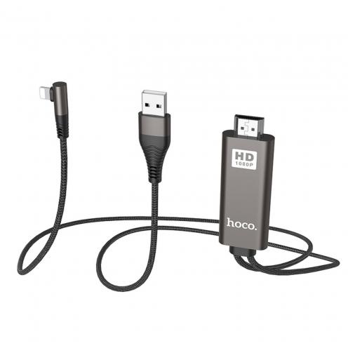 HOCO adapter HDMI to Lightning 8-pin UA14 black