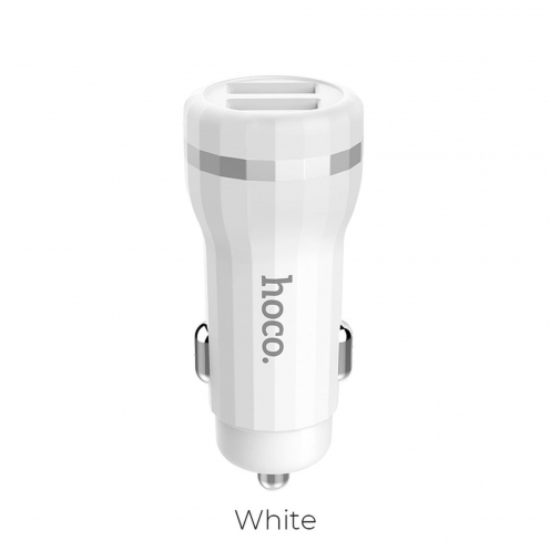 HOCO car charger Staunch 2 x USB 2,4A Z27 white