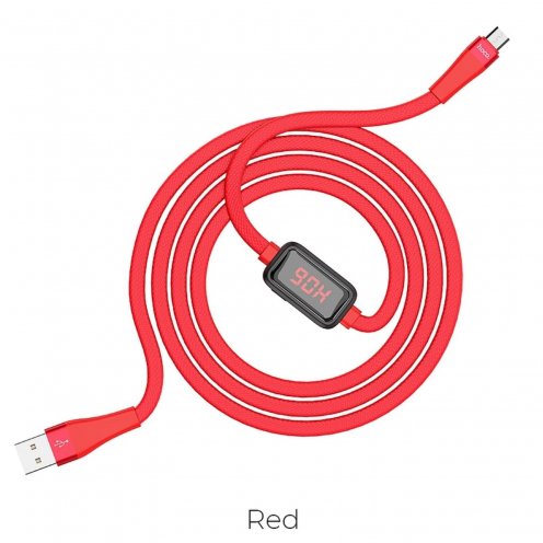 Hoco Selected® Charging data cable with timing display Micro USB S4 red