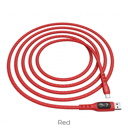 Hoco Selected® Sentinel charging data cable with timing display Type C S6 red