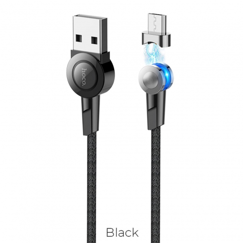 Hoco Selected® Magnetic charging cable Micro USB S8 black