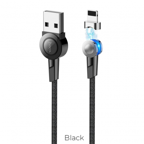 Hoco Selected® Magnetic charging cable for Lightning 8-pin S8 black