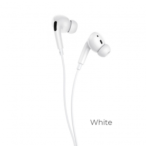 Hoco® L10 Acoustic Type-C wired earphones with mic white