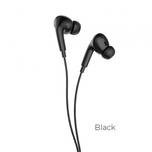 Hoco® L10 Acoustic Type-C wired earphones with mic black