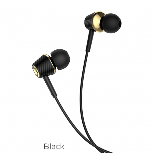 Hoco® eaphones Graceful universal with mic M70 black