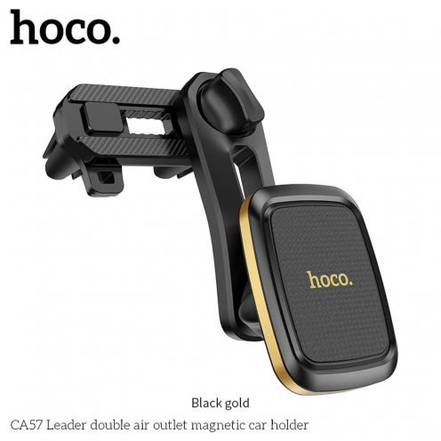 HOCO car holder Leader double air outlet CA57 black gold