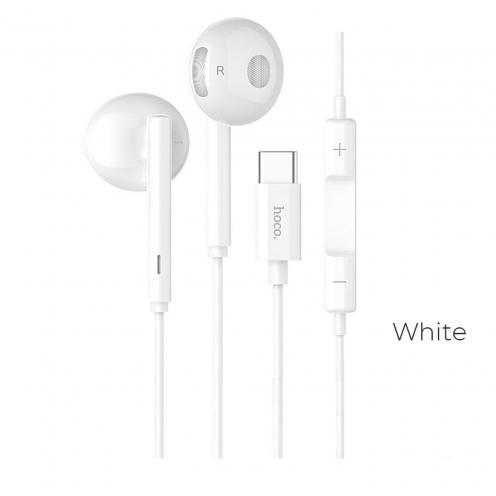 HOCO earphones wired Type C L10 Acustic white