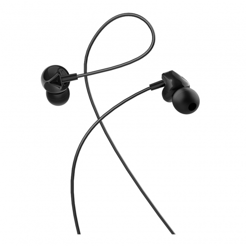 HOCO earphones M60 Perfect sound universal earphones with mic black