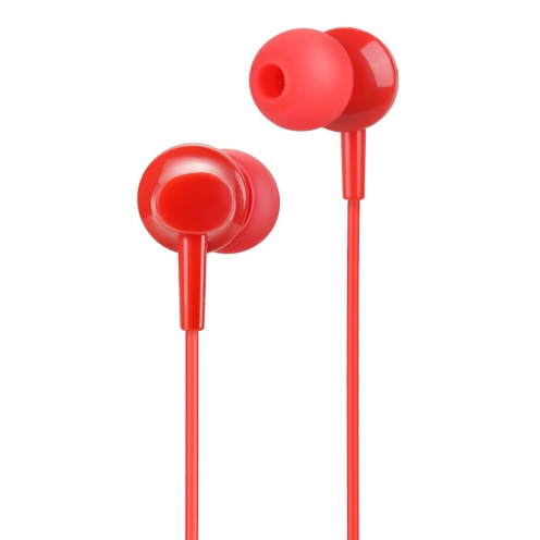 HOCO earphones inital sound universal with micro M14 red