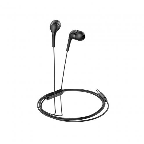 HOCO earphones Drumbeat universal with mic M40 black