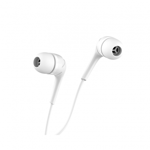 HOCO earphones Drumbeat universal with mic M40 white