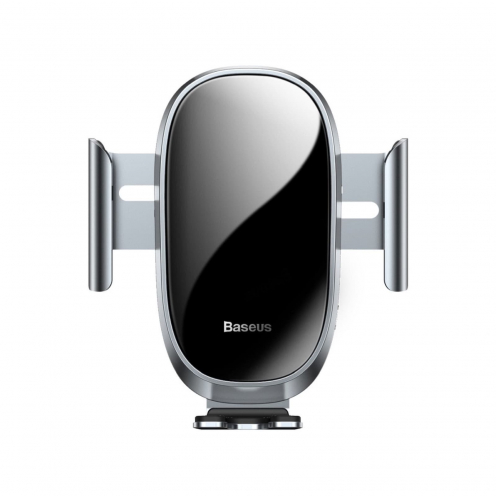 BASEUS car holder Smart Car Mount Cell Phone Holder Silver (automatic close) SUGENT-ZN0S
