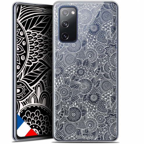 "Carcasa Gel Extra Fina Samsung Galaxy S20 FE (6.5"") Dentelle Florale Blanc"