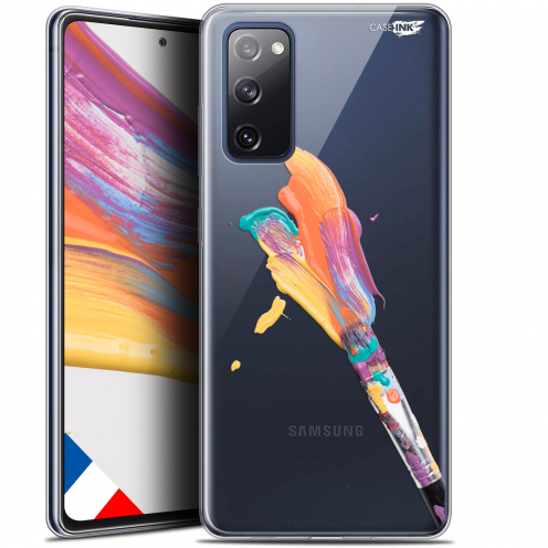 """Carcasa Gel Extra Fina Samsung Galaxy S20 FE (6.5"""") Design Pinceau de Peinture"""