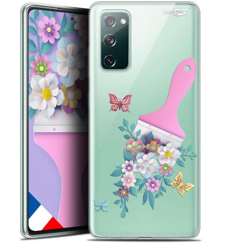 "Carcasa Gel Extra Fina Samsung Galaxy S20 FE (6.5"") Design Pinceau à Fleurs"
