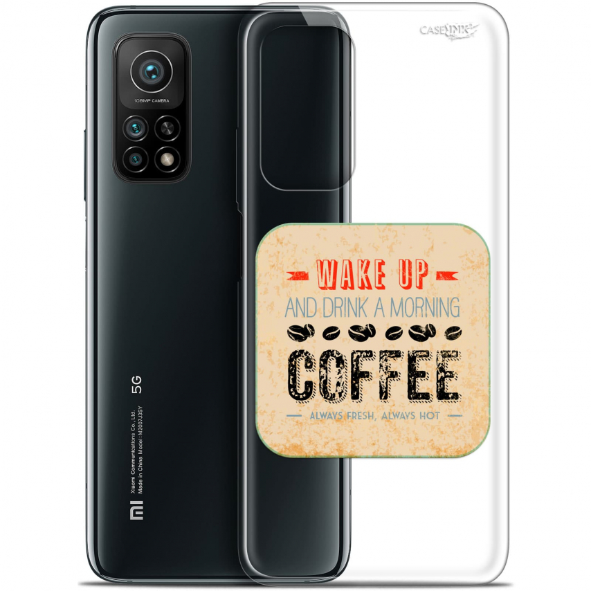 "Carcasa Gel Extra Fina Xiaomi Mi 10T / 10T Pro 5G (6.67"") Design Wake Up With Coffee"