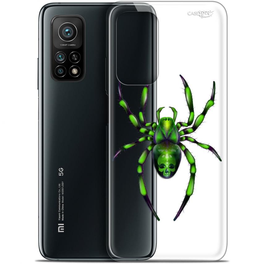 """Carcasa Gel Extra Fina Xiaomi Mi 10T / 10T Pro 5G (6.67"""") Design Arraignée Verte"""