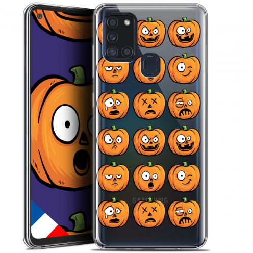 "Carcasa Gel Extra Fina Samsung Galaxy A21S (6.5"") Halloween Cartoon Citrouille"