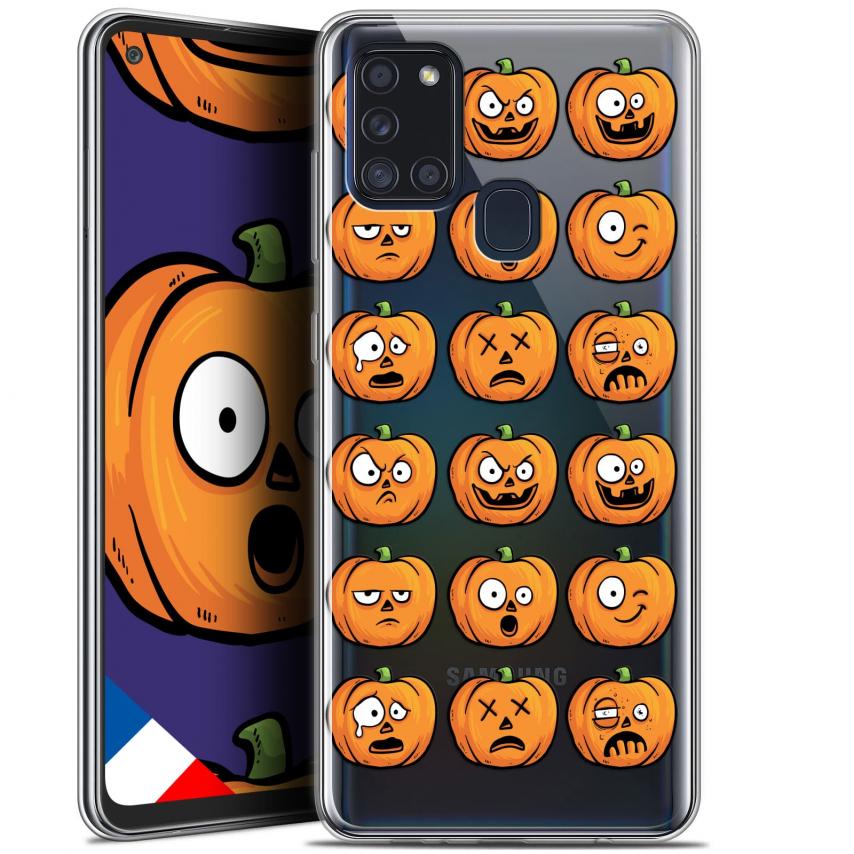 "Carcasa Gel Extra Fina Samsung Galaxy A21S (6.5"") Halloween Cartoon Citrouille"