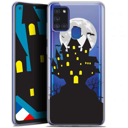 "Carcasa Gel Extra Fina Samsung Galaxy A21S (6.5"") Halloween Castle Scream"