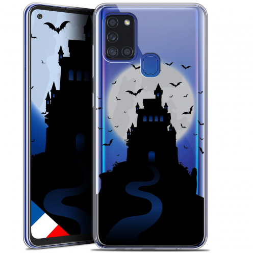 "Carcasa Gel Extra Fina Samsung Galaxy A21S (6.5"") Halloween Castle Nightmare"