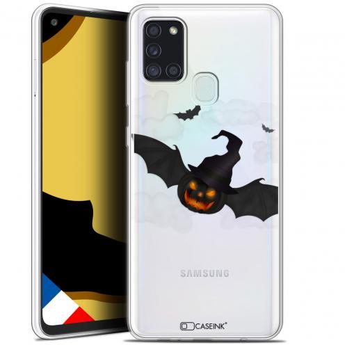 "Carcasa Gel Extra Fina Samsung Galaxy A21S (6.5"") Halloween Chauve Citrouille"