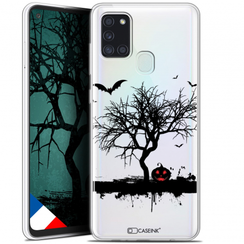 "Carcasa Gel Extra Fina Samsung Galaxy A21S (6.5"") Halloween Devil's Tree"