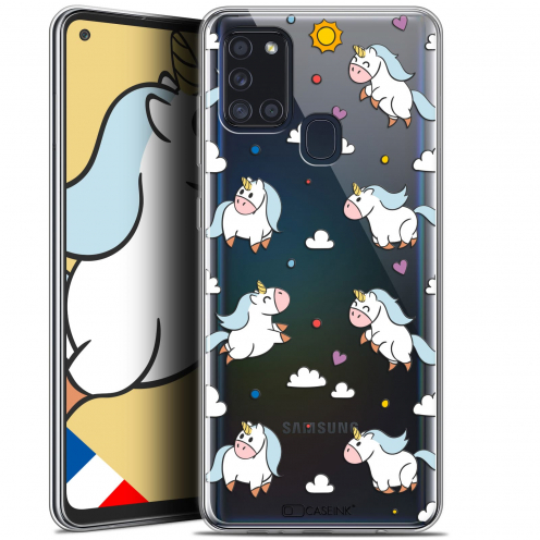 "Carcasa Gel Extra Fina Samsung Galaxy A21S (6.5"") Fantasia Licorne In the Sky"