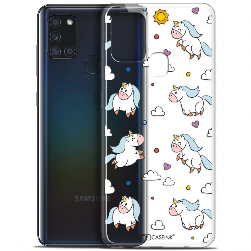 "Carcasa Gel Extra Fina Samsung Galaxy A21S (6.5"") Fantasia Licorne In the Sky"
