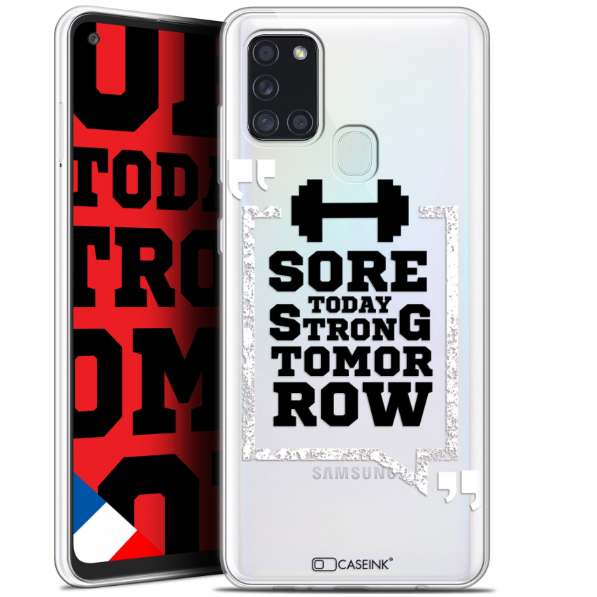 "Carcasa Gel Extra Fina Samsung Galaxy A21S (6.5"") Quote Strong Tomorrow"