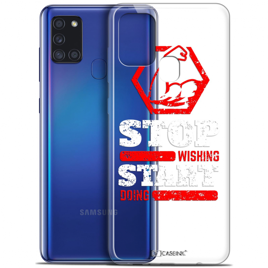 """Carcasa Gel Extra Fina Samsung Galaxy A21S (6.5"""") Quote Start Doing"""