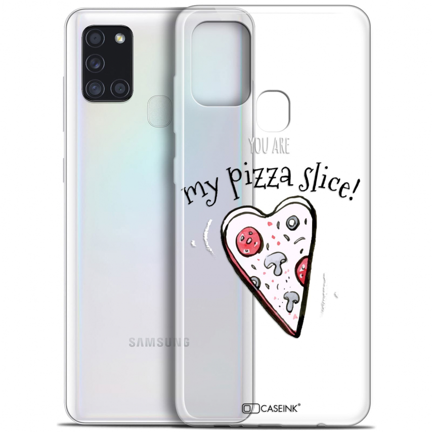 "Carcasa Gel Extra Fina Samsung Galaxy A21S (6.5"") Love My Pizza Slice"