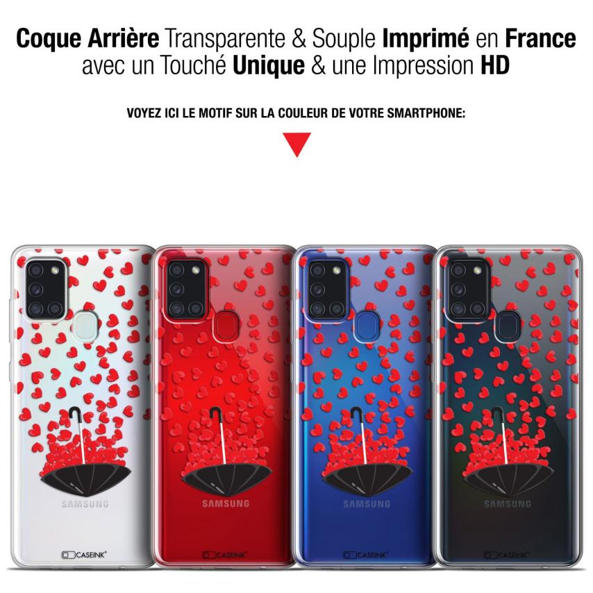 "Carcasa Gel Extra Fina Samsung Galaxy A21S (6.5"") Love Parapluie d'Amour"