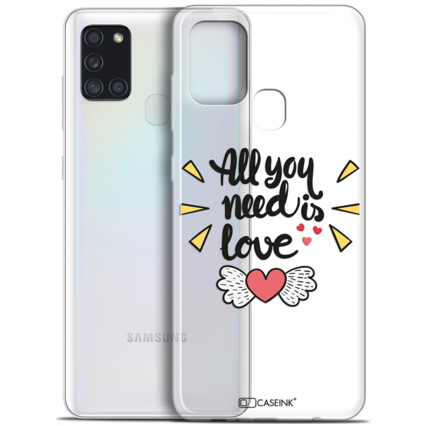 "Carcasa Gel Extra Fina Samsung Galaxy A21S (6.5"") Love All U Need Is"