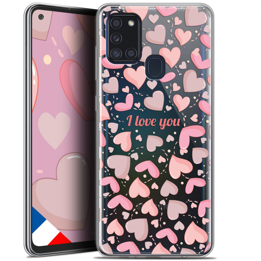 "Carcasa Gel Extra Fina Samsung Galaxy A21S (6.5"") Love I Love You"