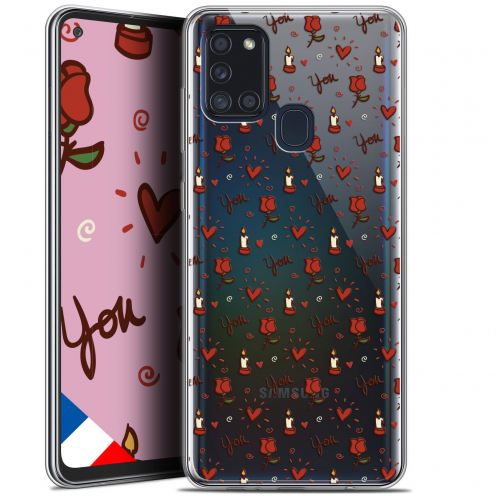 "Carcasa Gel Extra Fina Samsung Galaxy A21S (6.5"") Love Bougies et Roses"